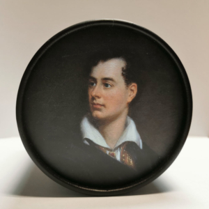 Paper box with a philhellenic theme: Lord Byron (1788-1824)