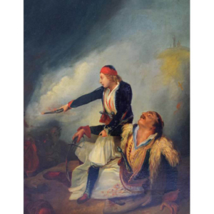 Painting by the 19th century Hungarian painter Adalbert Schäffer