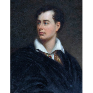Painting depicting Lord Byron